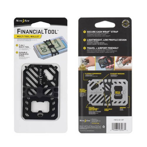 Nite Ize - Financial Tool Multi Tool Wallet - Black - FMT2-01-R7