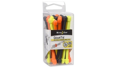 Nite Ize - Gear Tie 3'' Pro Pack - Assorted - 24Pack - GTPP3-A1-R8