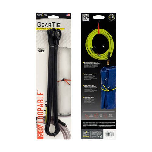 Nite Ize - Gear Tie Loopable 24'' - Black - 2Pack - GLL24-01-2R6
