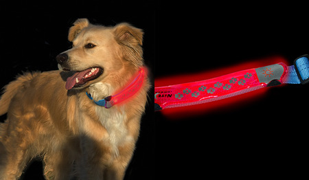 Nite Ize - Nite Dawg LED Collar Cover - Grey - NDCC-03-09