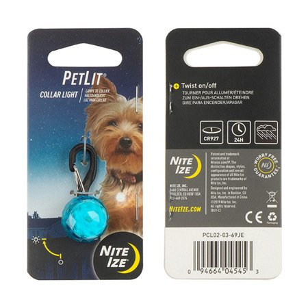 Nite Ize - PetLit® Collar Light - Turquoise Jewel - PCL02-03-69JE