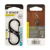 Nite Ize - S-Biner® SlideLock® Stainless Steel #3 - Black - LSB3-01-R6