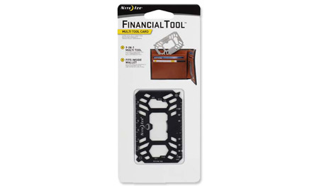 Nite Ize - Financial Tool Multi Tool Card - Black - FMTM-01-R7