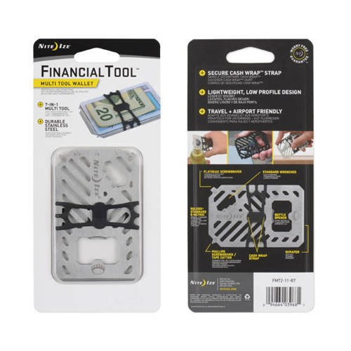 Nite Ize - FinancialTool Multi Tool Wallet - Stainless - FMT2-11-R7