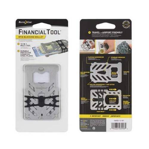 Nite Ize - FinancialTool RFID Blocking Wallet - Stainless - FMTR-11-R7