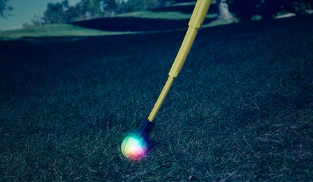 Nite Ize - Huck 'N Tuck™ GlowStreak® Collapsible Thrower + LED Ball - HNTG-01-R7