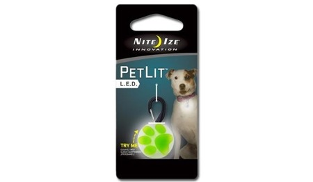 Nite Ize - PetLit LED Collar Light - Lime Paw - PCL02-03-17PA