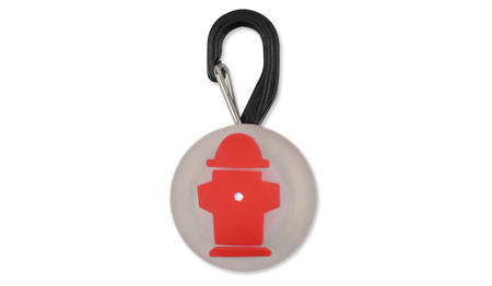 Nite Ize - PetLit LED Collar Light - Red Hydrant - PCL02-03-10HY