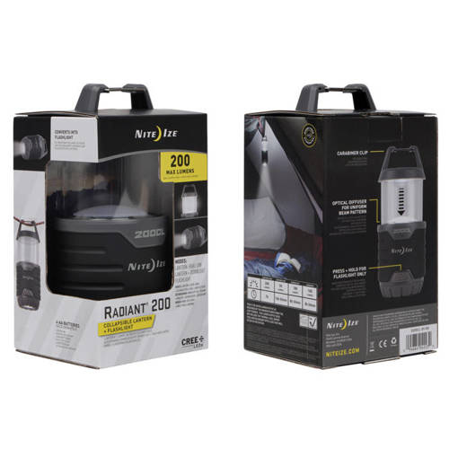Nite Ize - Radiant 200 Collapsible Lantern - 200 lumens - R200CL-09-R8