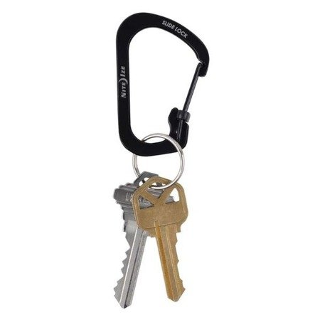 Nite Ize - SlideLock® Carabiner Stainless Steel #3 - Black - CSL3-01-R6