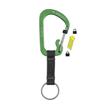 Nite Ize - SlideLock® Key Ring Aluminum - Lime - CSLAW3-17-R6