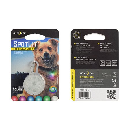 Nite Ize - SpotLit™ Collar Light - Disc-O Select™ - PSGS-07S-R6