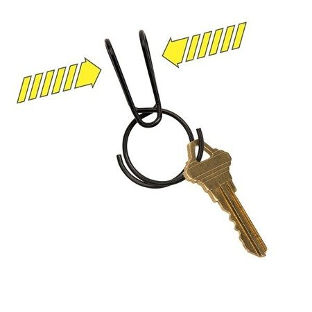 Nite Ize - SqueezeRing™ Easy Load Key Clip - Black - KSQR-01-R6