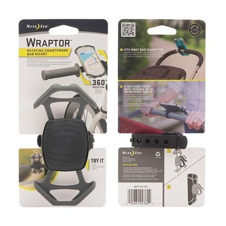 Nite Ize - Wraptor™ Rotating Smartphone Bar Mount - WPT-09-R3