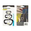 Nite Ize - SlideLock Carabiner Set #2, #3, #4 - Black - CSLC-01-R6